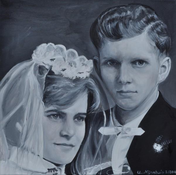 Hochzeit 1960, Gemälde